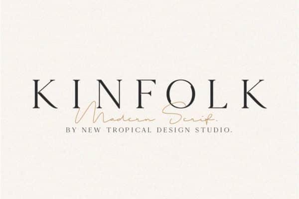 Kinfolk – Modern Serif Font Wedding Invitation Font