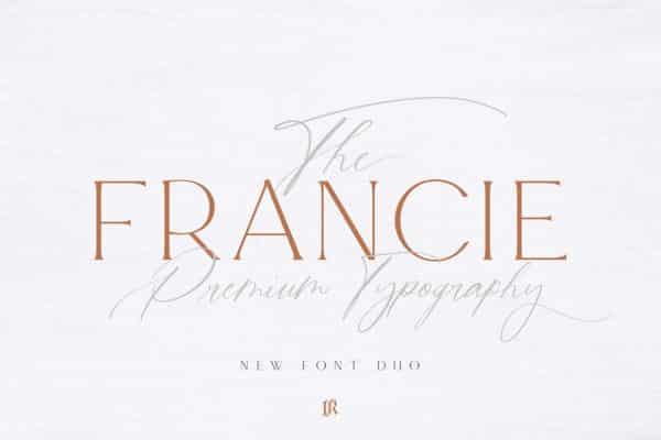 Francie Font Duo Wedding Invitation Fonts