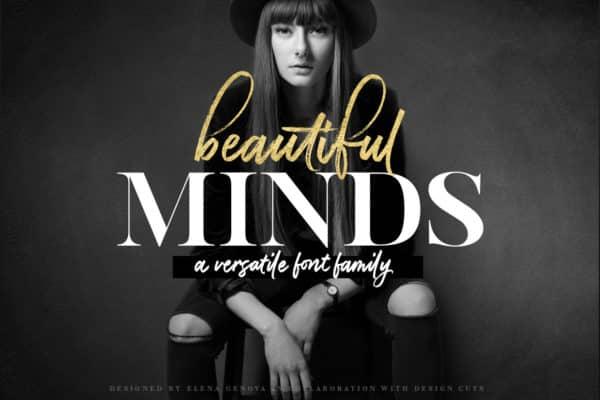 Beautiful Minds – A Versatile Font Family Wedding Invitation Font