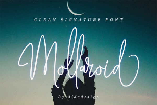 Mollariod Wedding invitation font