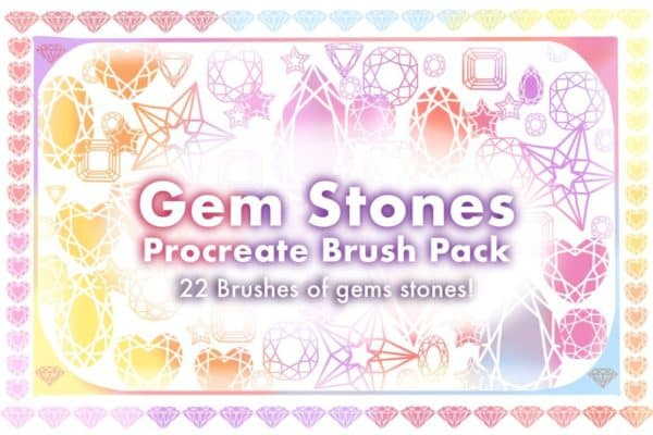 Gemstones Procreate Brush Pack