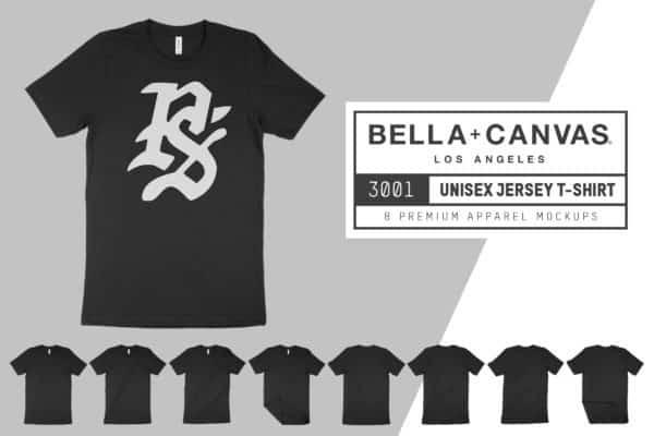 Bella Canvas 3001 T-Shirt Mockups