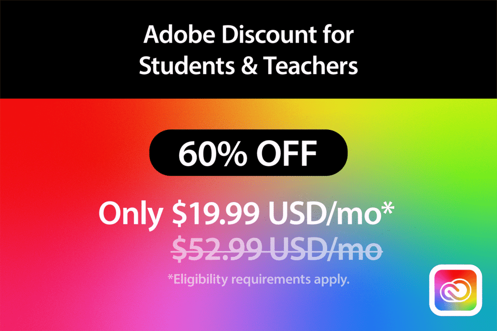 Adobe Discount for Students and Teachers