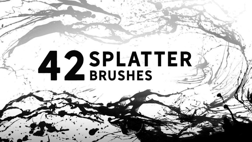 42 Splatter brushes