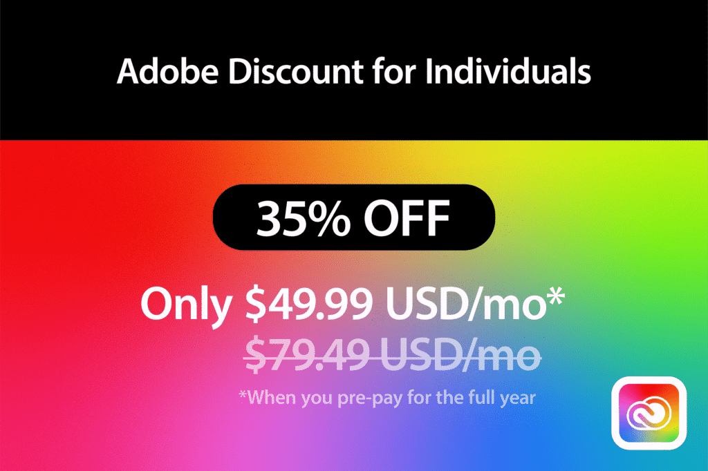 Adobe Discount for Individuals