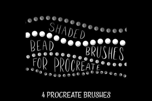 Shaded Bead Brushes for Procreate