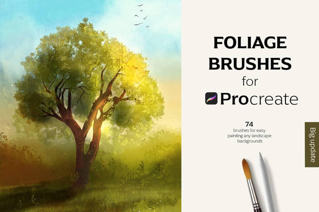 74 Foliage Brushes for Procreate