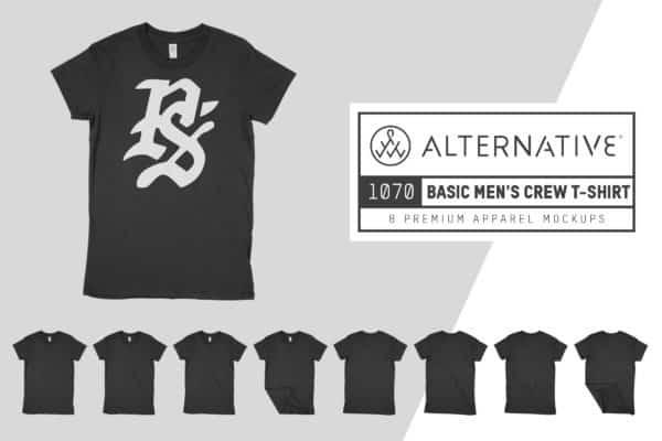 Alternative 1070 Men's T-Shirt Mockups
