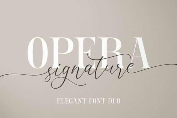 Opera Signature Wedding Invitation Font