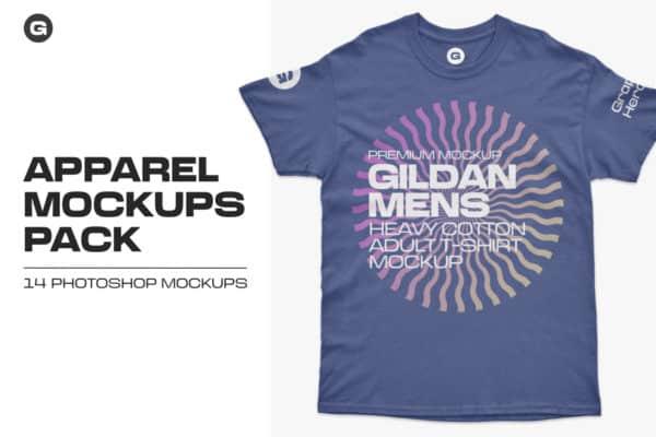 Gildan Mens Adult T-Shirt Mockups