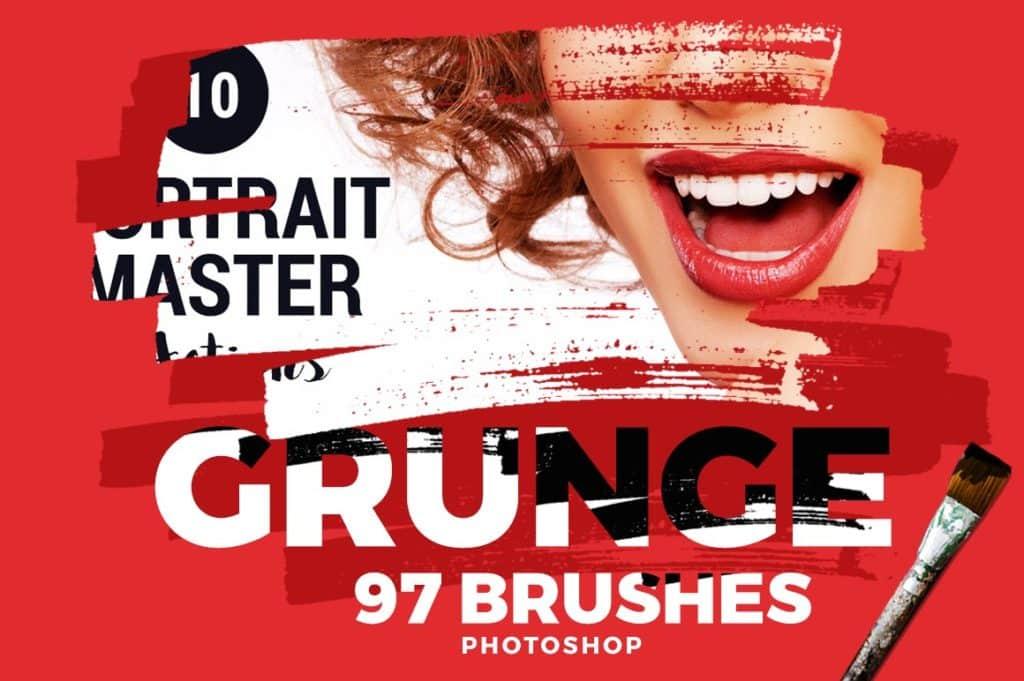 97 Grunge Photoshop Brushes