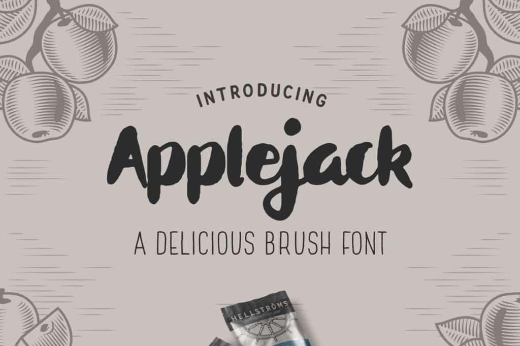 Applejack – A Delicious Brush Font