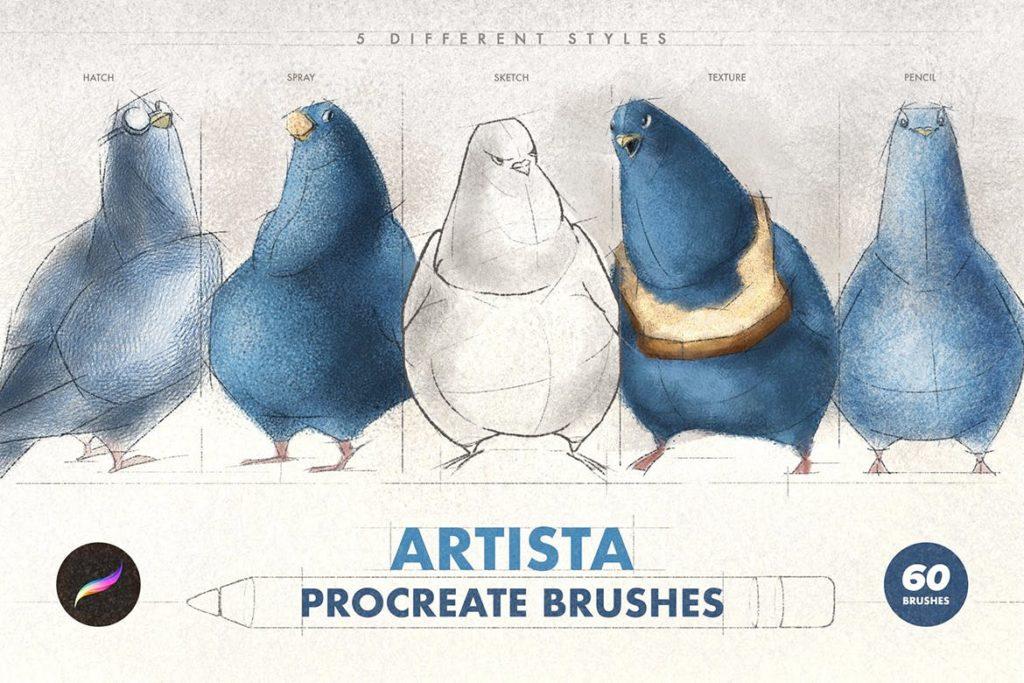 Artista Procreate Brushes
