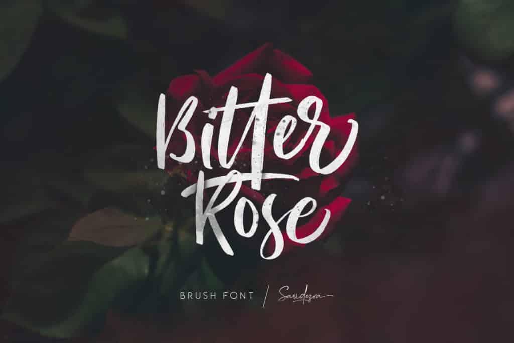 Bitter Rose – Brush Font
