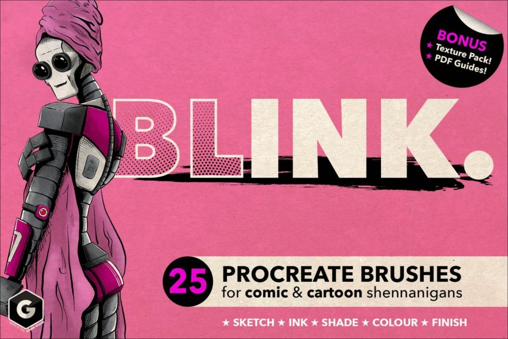 Blink- Procreate Brush Set for Comic and Cartoon Styles