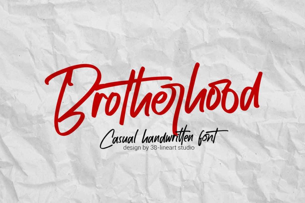 Brotherhood – Casual Handwritten Font