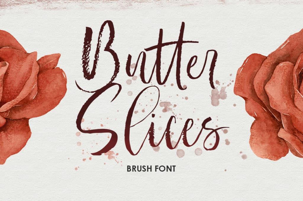 Butter Slices – Brush Font