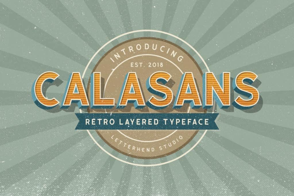 Calasans – 7 Layered Fonts
