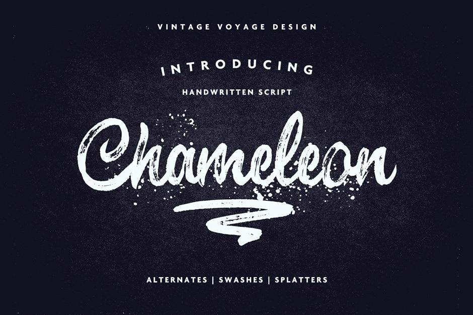 Chameleon Impressive Brush Script