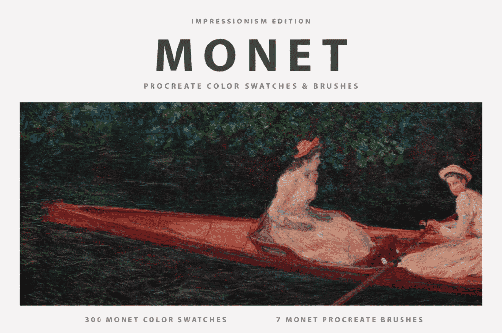 Claude Monet's Procreate Brushes & Color Swatches