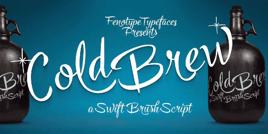 Cold Brew- Swift Brush Script Family