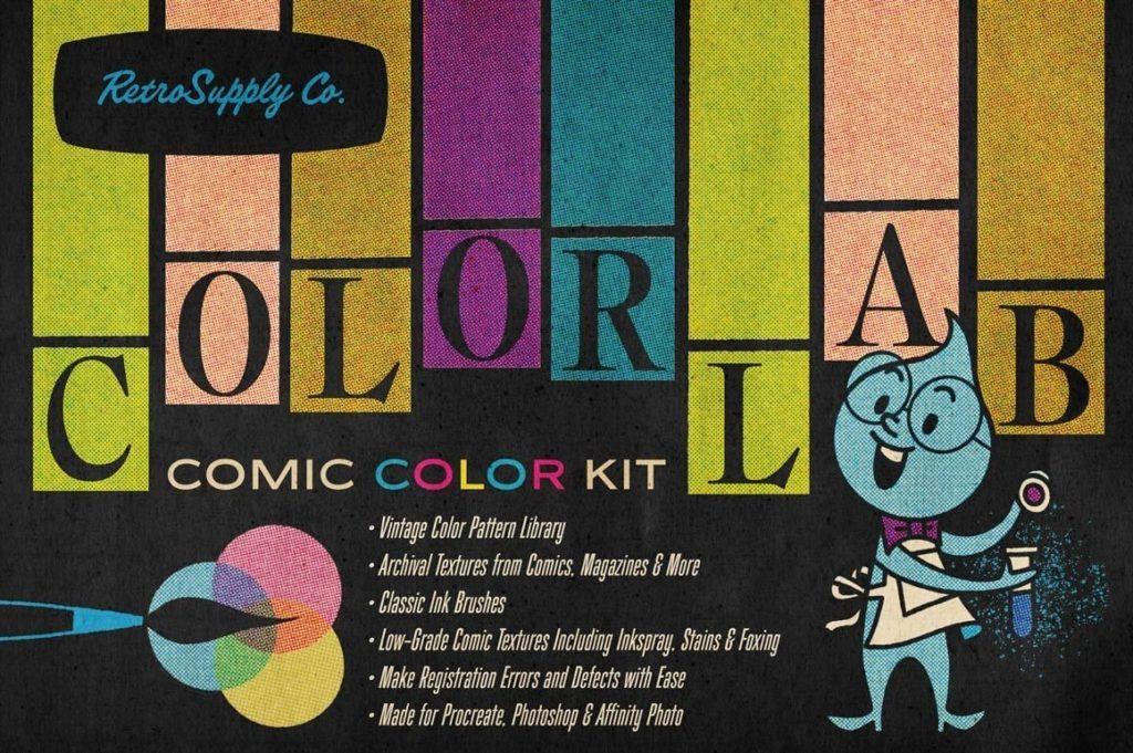 ColorLab Procreate Vintage Comic Kit
