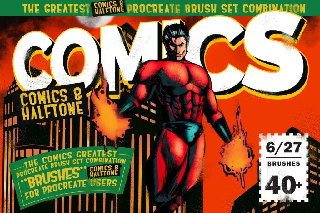 Comics & Halftone- Procreate Brushes