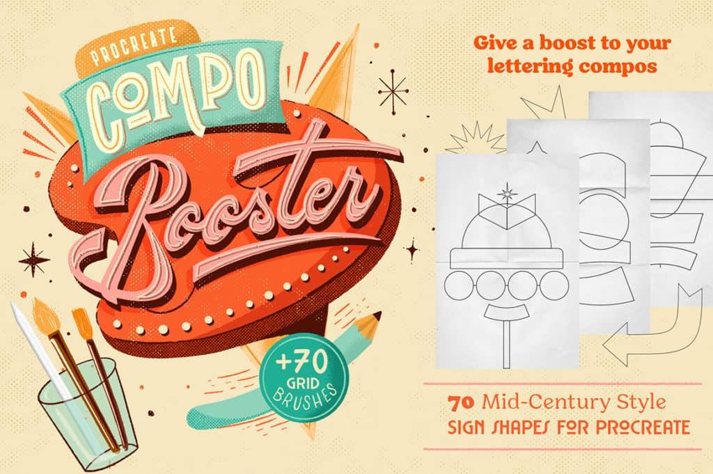 Compo Booster 1.0 Procreate Retro Brushes