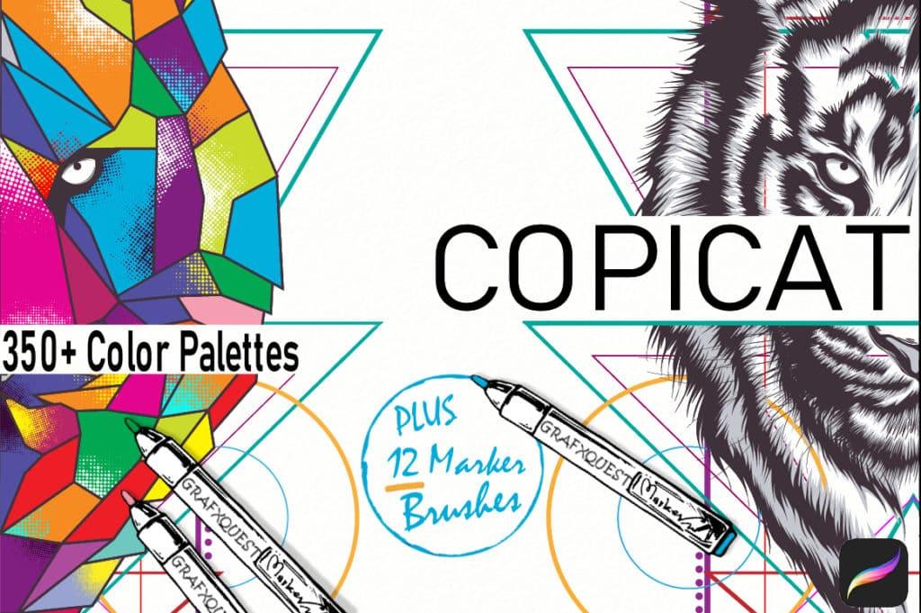 Copicat Procreate Color Palettes & Marker Brushes