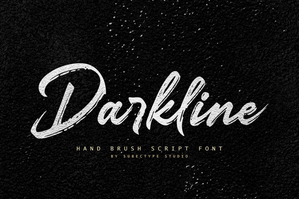 Darkline – Brush Script Font