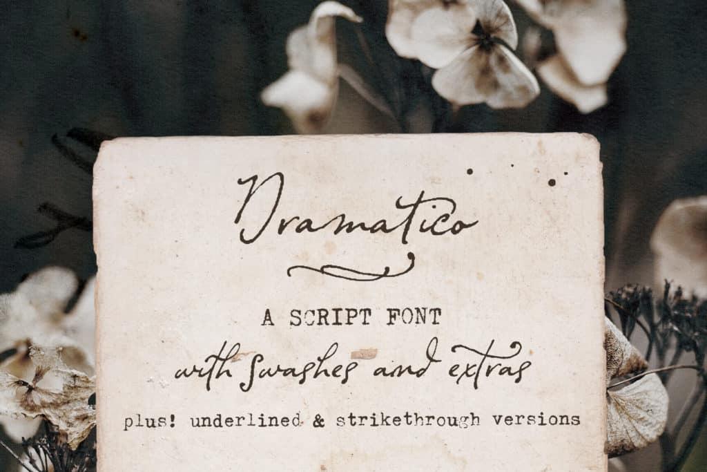 Dramatico Script Font