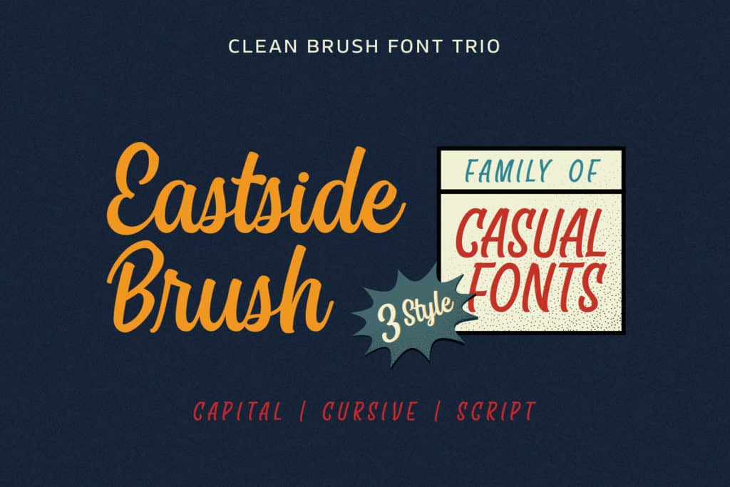East Side Brush Fonts