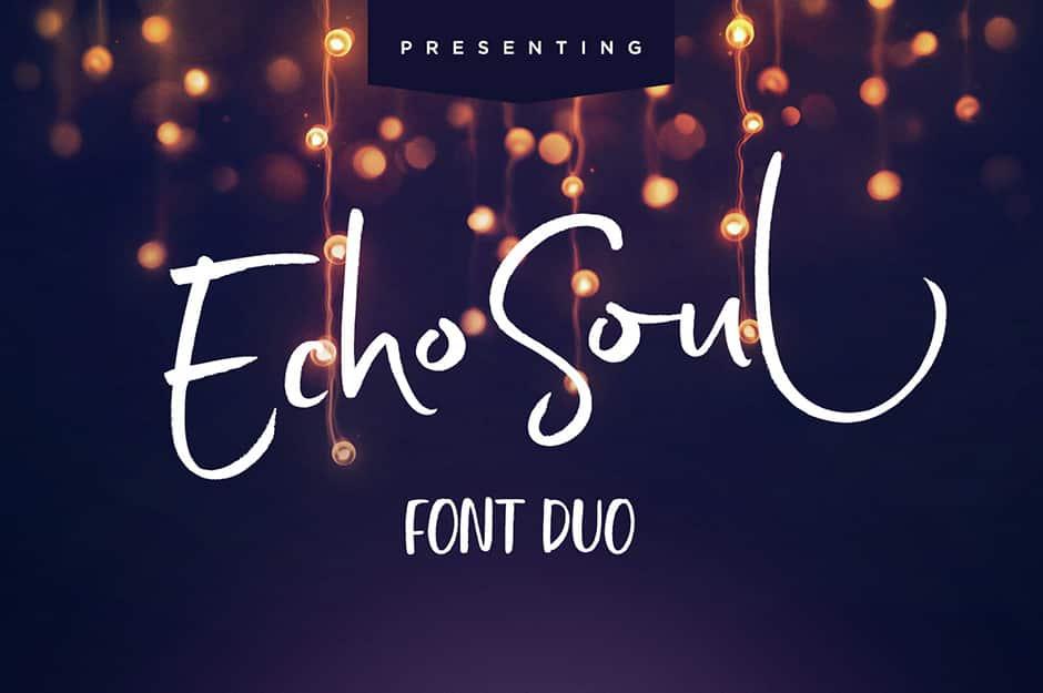 Echo Soul Brush Font Duo