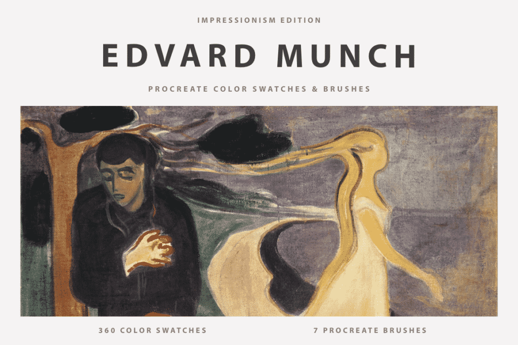 Edvard Munch's Procreate Brushes & Color Swatches