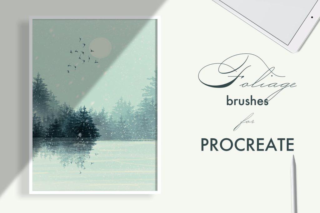 Foliage brushes for Procreate
