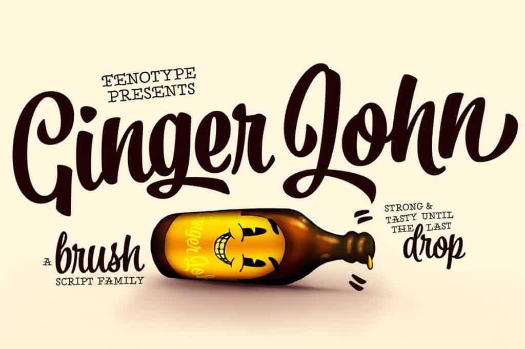 Ginger John Brush Script Family