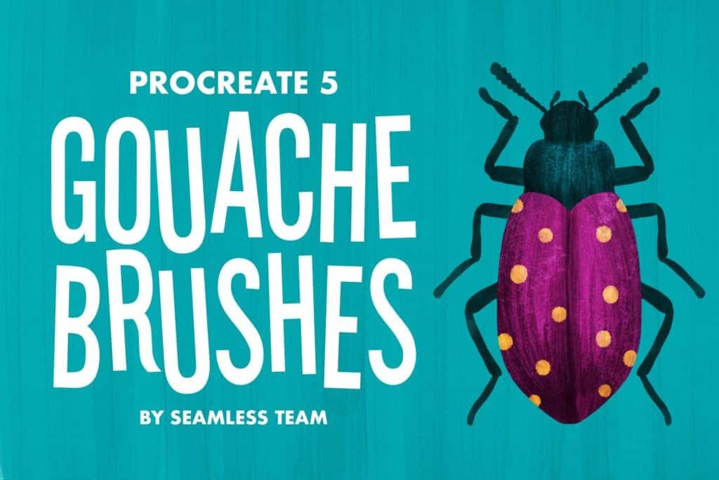 Gouache Procreate 5 Brushes