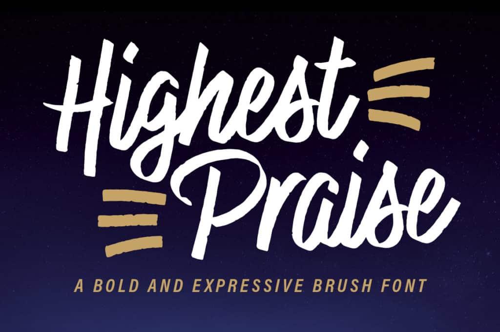 Highest Praise Font