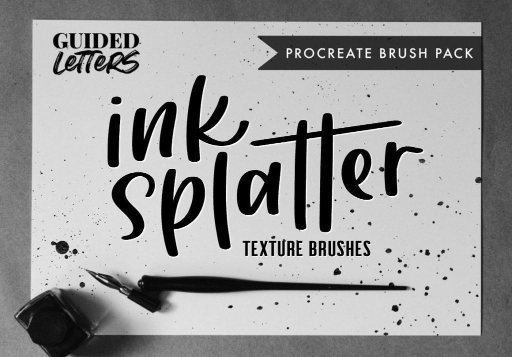Ink Splatter Texture for Procreate