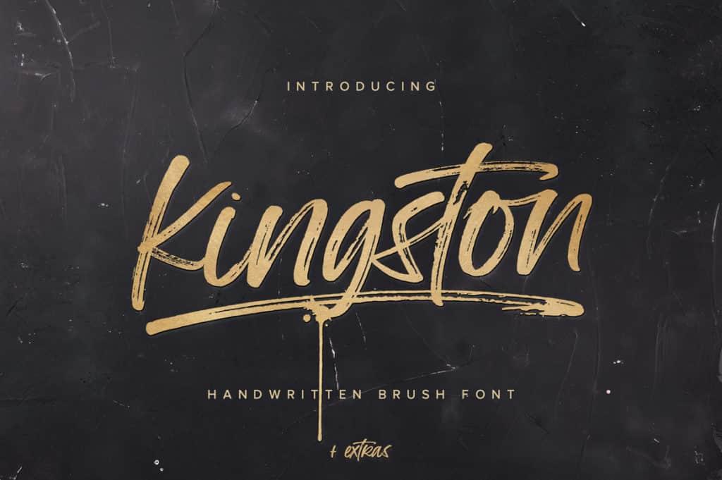 Kingston Script Brush Font + Extras
