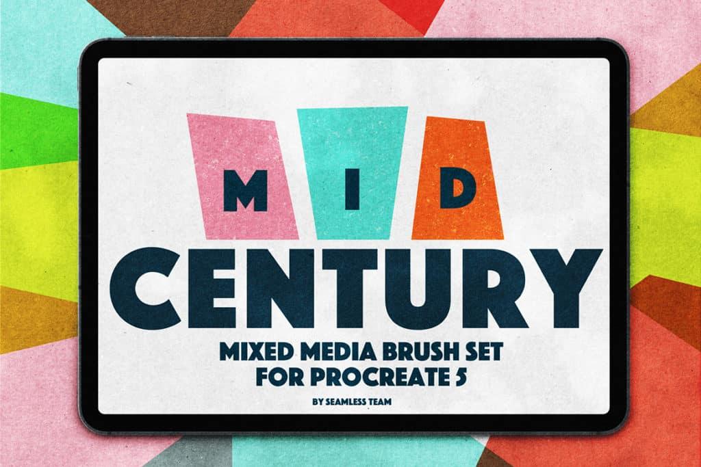 Mid Century Brushes for Procreate 5