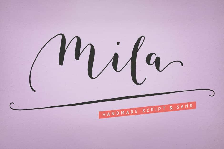 Mila Script- A Hand Drawn Brush Script