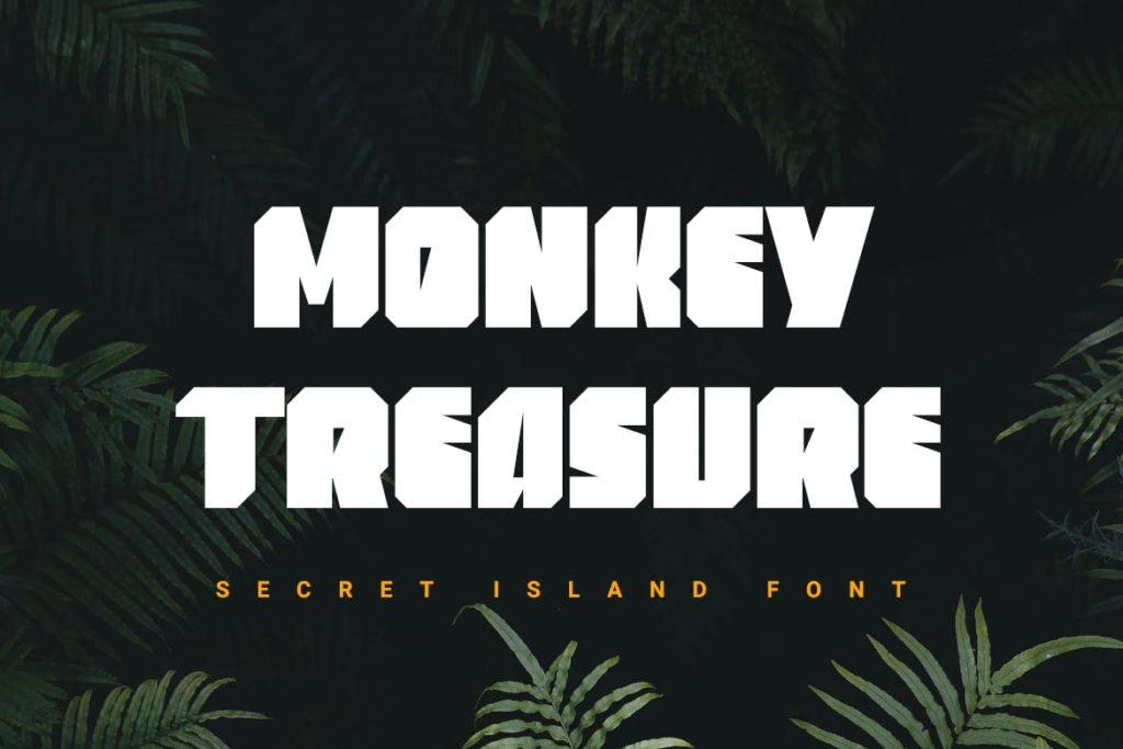 Monkey Treasure   heavy font