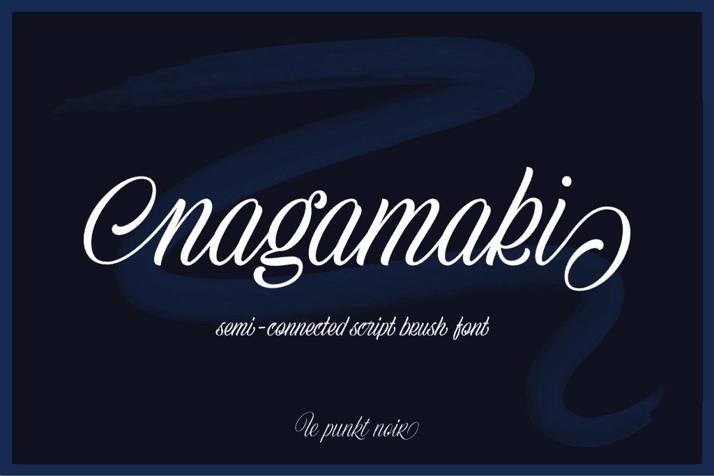 Nagamaki Brush Font