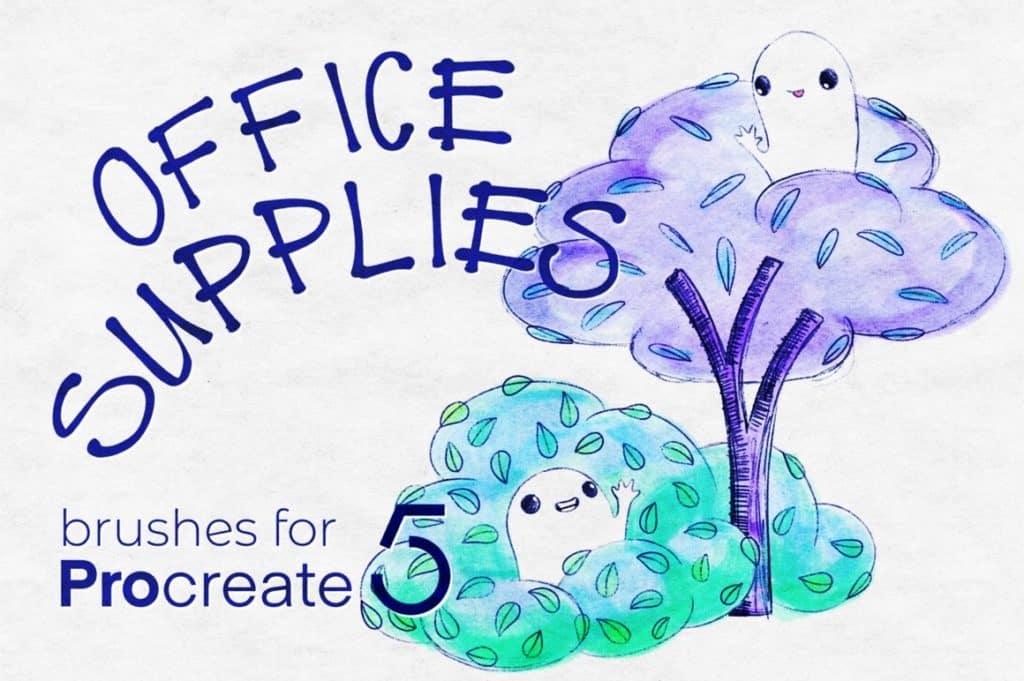 Office-Supplies-for-Procreate-1