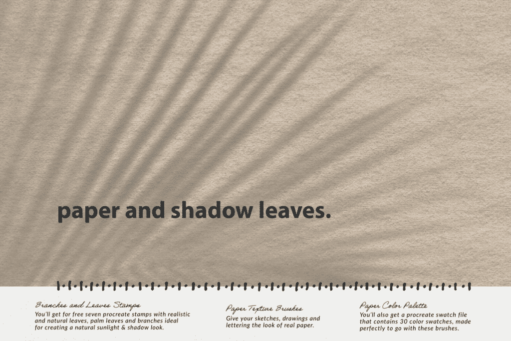 Paper & Shadow Leaves Procreate Kit