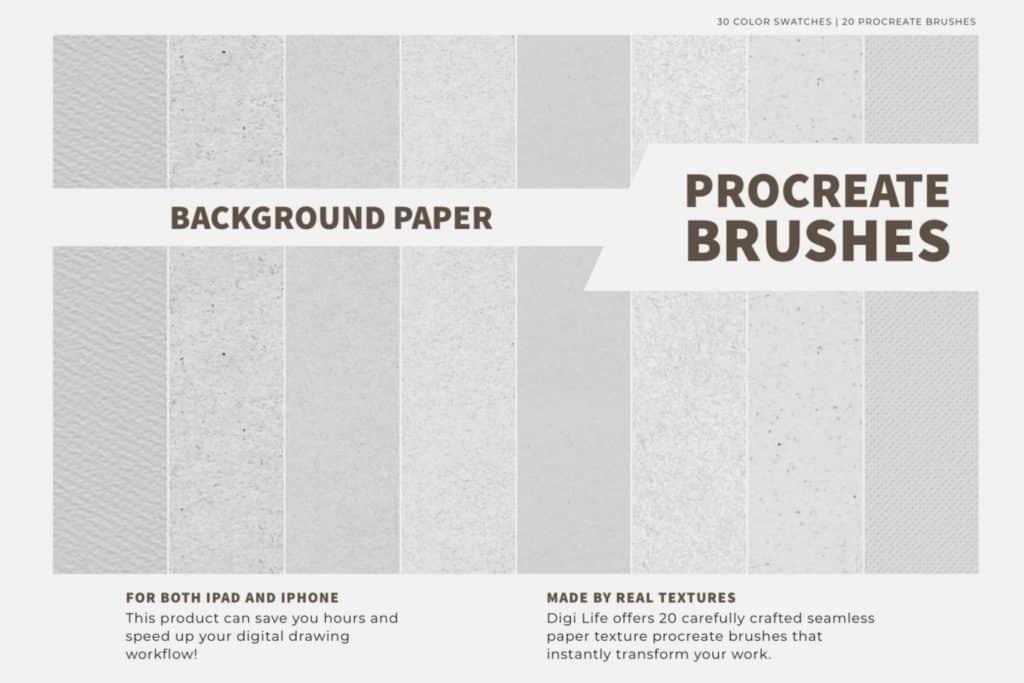 Paper Texture Procreate Brushes & Color Palette