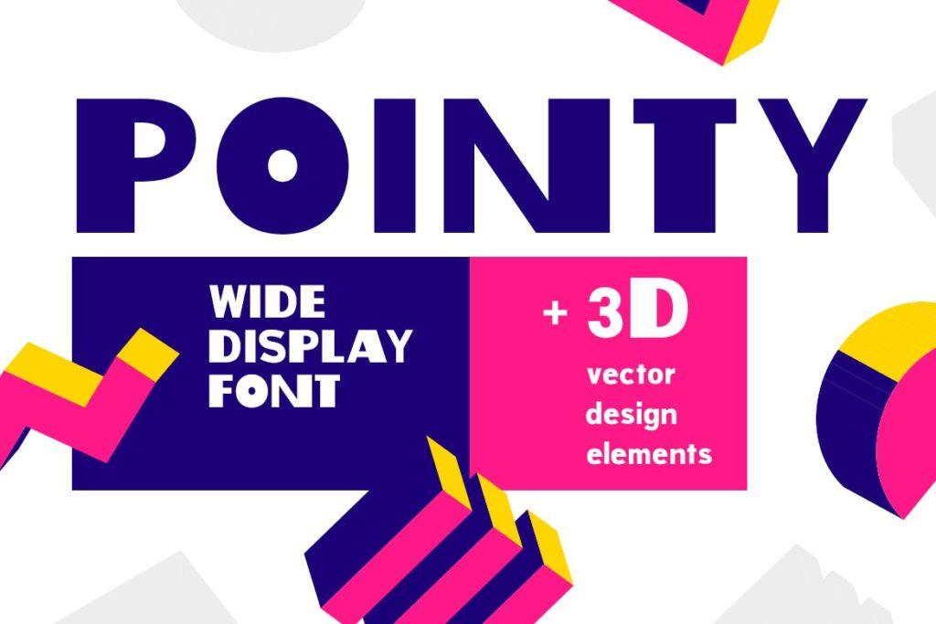 Pointy  fashion bold font