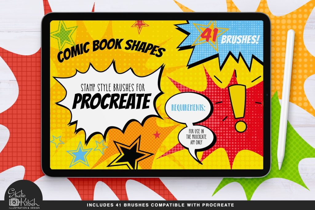 Procreate Comic Shape Brushes Stamps