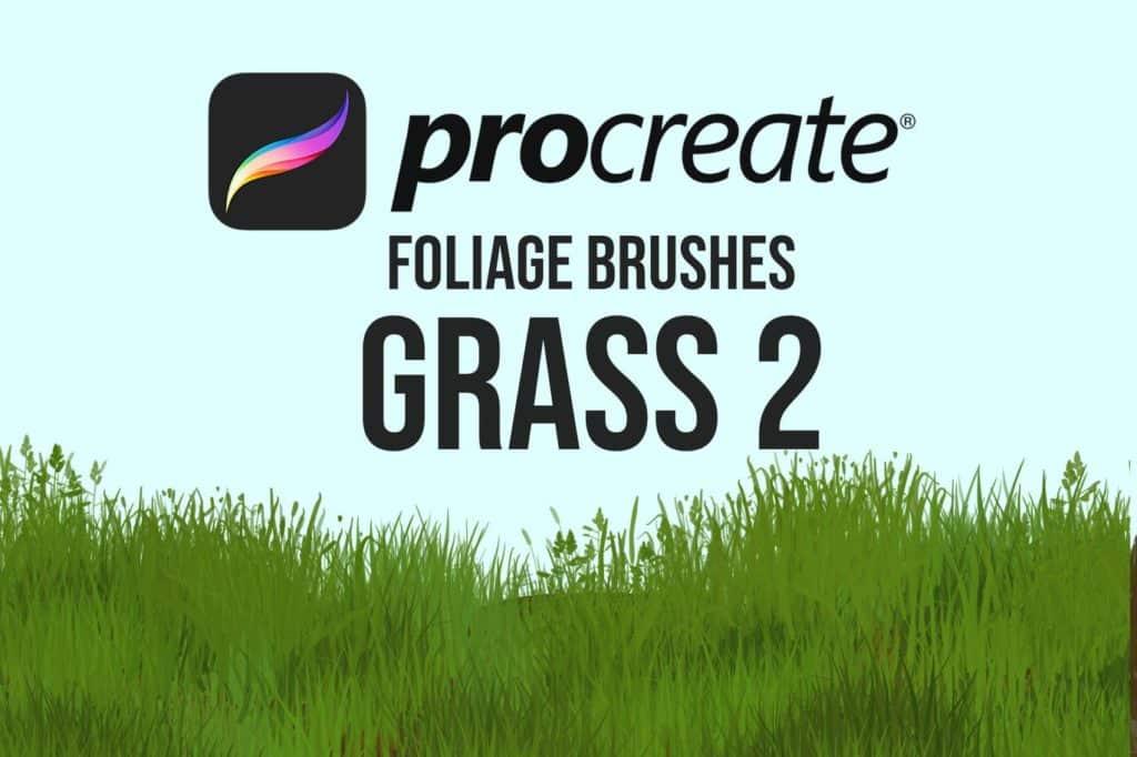 Procreate Foliage Brushes - Grass 2